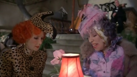 Katherine Helmond and Barbara Hick's wear James Acheson's distorted vision of high fashion.